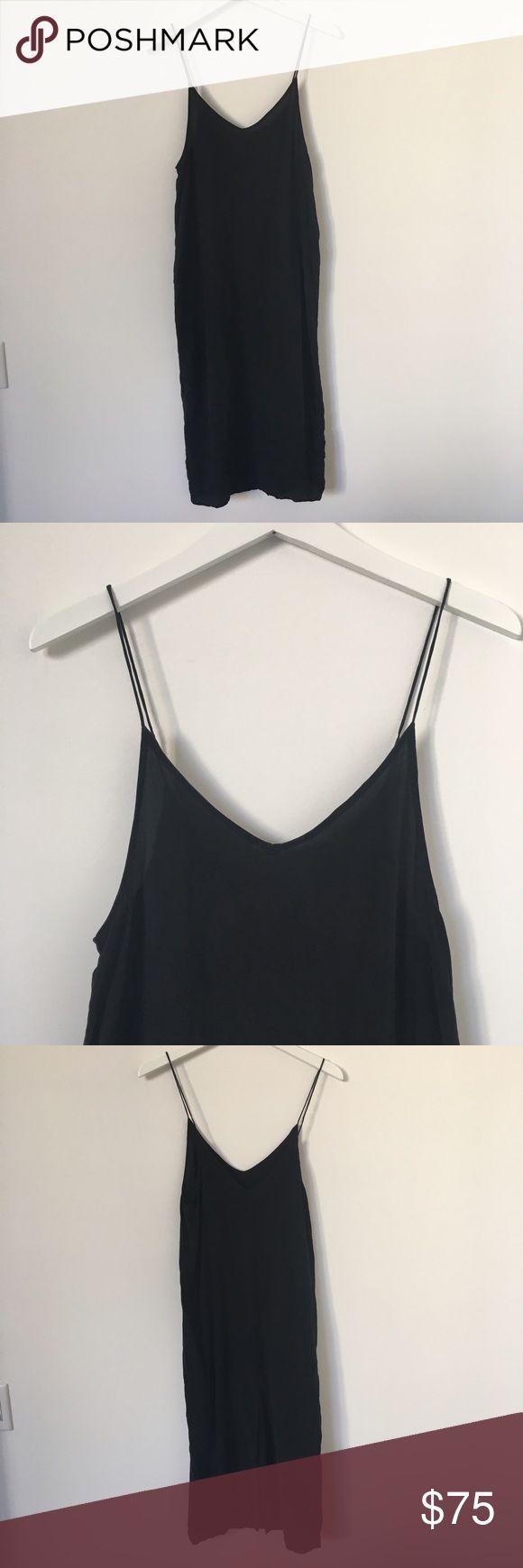 Silk Topshop Boutique Slip Dress Washed silk perfect basic Topshop Dresses Midi