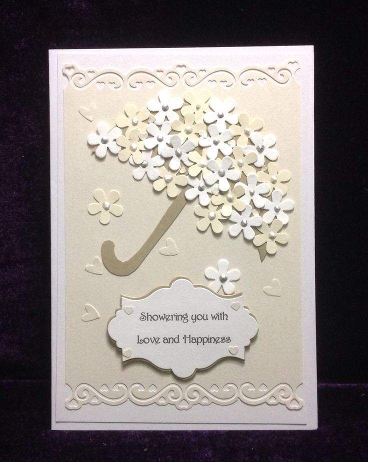 Bridal shower card reflecting the colours of