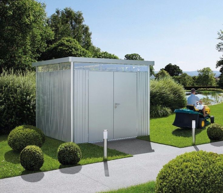 BioHort Highline H5 Metal Shed With Double Doors