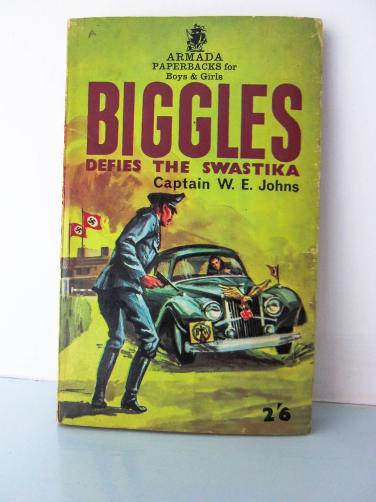 Biggles 1960s paperback book, by captain W E Johns, Biggles defies the swastika, vintage children's book, World war II novel, vintage kids by thevintagemagpie01 on Etsy