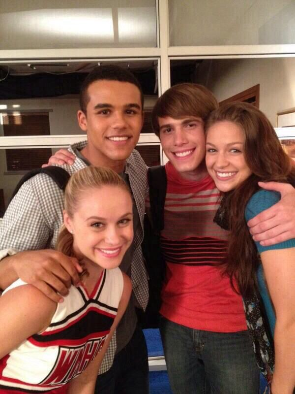 Becca Tobin (Kitty), Jacob Artist (Jake), Blake Jenner (Ryder), and Melissa Benoist (Marley)