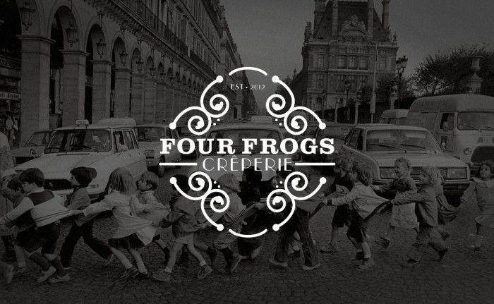 Four Frogs Creperie branding / www.gritsandgrids.com