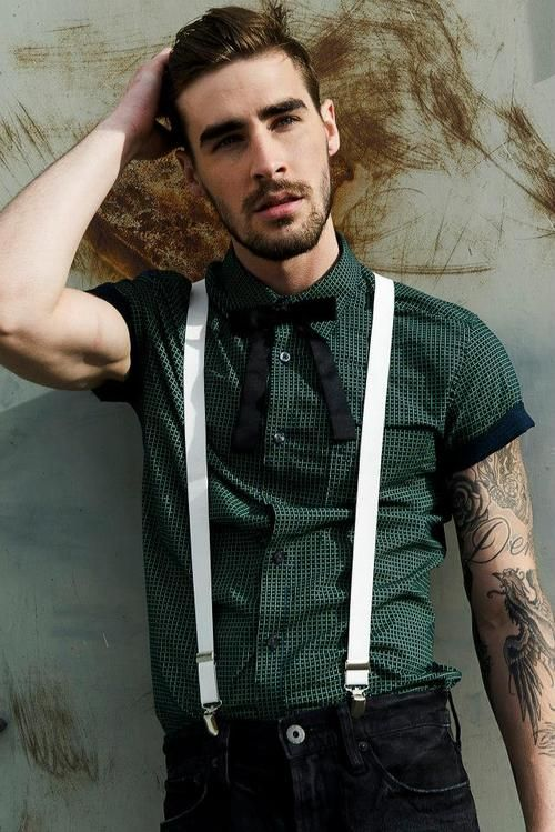 Suspenders. Facial Hair. Eye Brows. Tattoos.