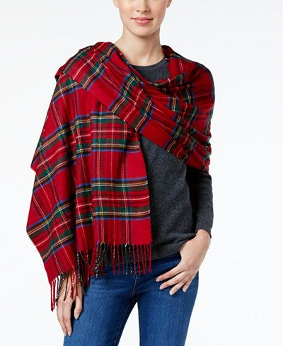 58.50$  Buy now - http://viqrf.justgood.pw/vig/item.php?t=r9py2di57456 - Tartan Plaid Blanket Scarf, Only at Macy's