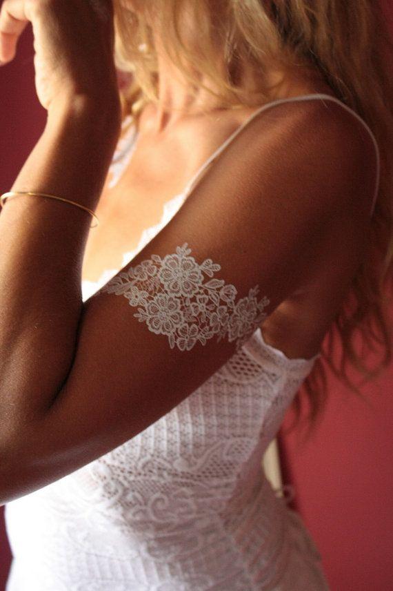 White Henna floral temporary tattoo boho temporary by Royaltats