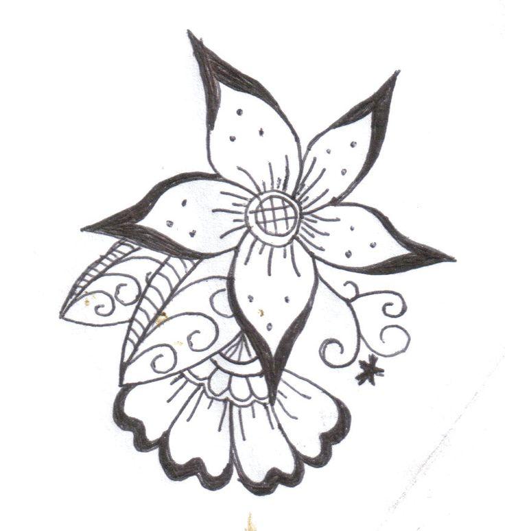 Top 25 best Henna flower designs ideas on Pinterest Simple