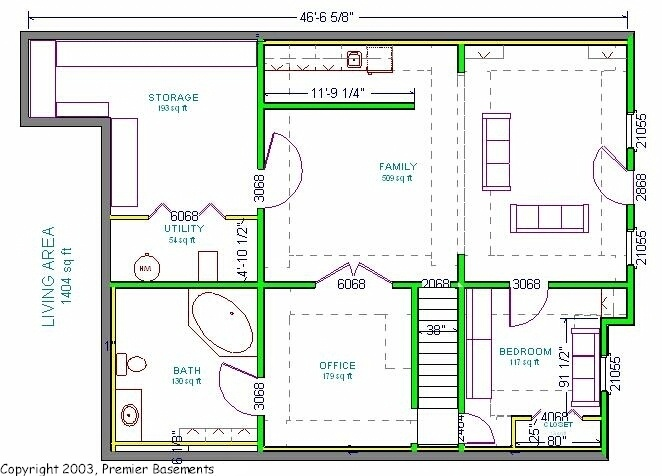 1000 images about layout ideas on pinterest finished for Free finished basement plans