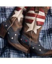 Rebel Bootmakers Women's Redneck Riviera Freedom Boot - Vintage Cinnamon