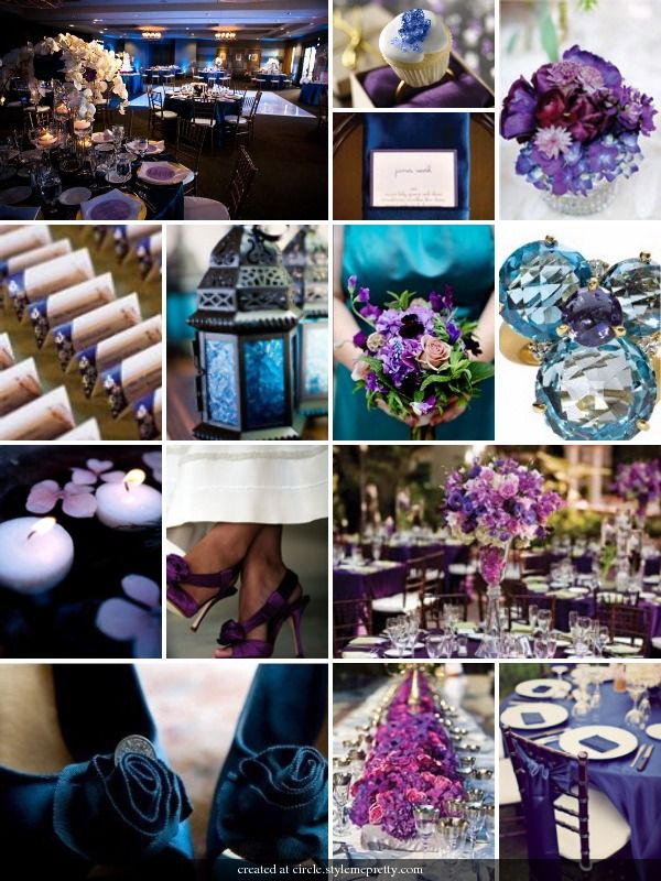 purple blue wedding ideas- jewel tones