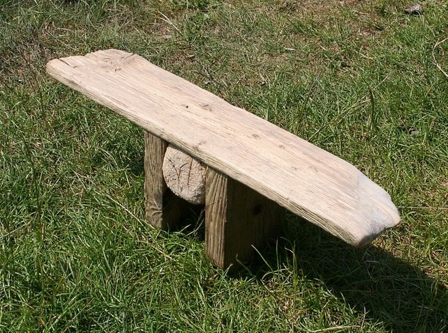 Meditation stool, Yoga Stool,Seiza Bench Handcrafted in Driftwood,Totally Unique £65.00