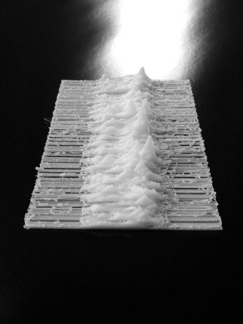 "3D printed iconic album art of Joy Division's ""Unknown Pleasures"" by 3ders.org"