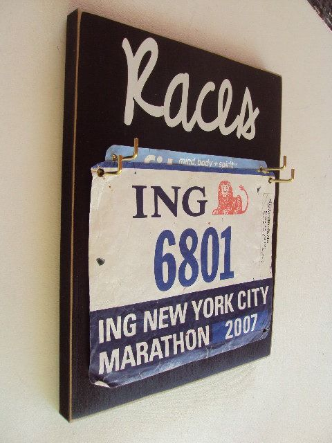 What To Do with Old Race Tags...too bad I have thrown most of my tags away, but I will start now:)