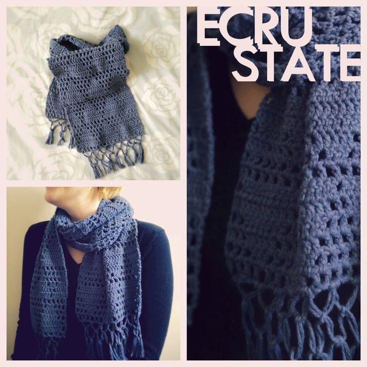#Blue #Jeans #Triangle #Scarf #ECRUSTATE #crochet