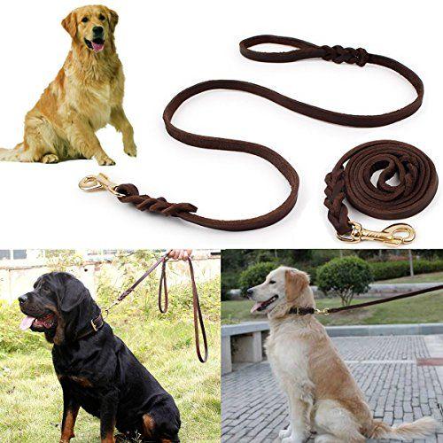 Focuspet Leather Dog Leash 6 Ft Leather Dog Training Leash Pet