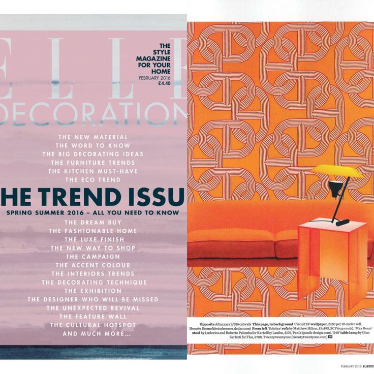 Panik featured in Elle Decoration's February issue with Kartell by Laufen's Max-Beam stool