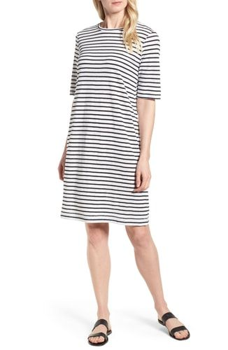 254179c4729 New Eileen Fisher Stripe Organic Linen Knit Shift Dress (Regular Petite)  online.   188  fgofashion offers on top store