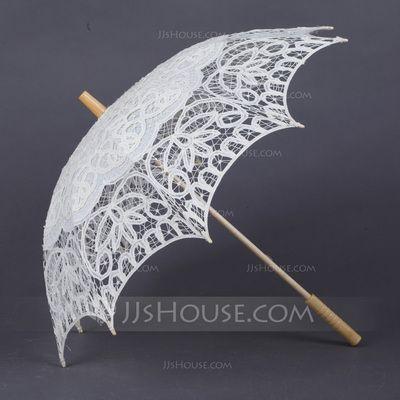 Wedding Umbrellas - $24.99 - Delicate Cotton Umbrellas (124041497) http://jjshouse.com/Delicate-Cotton-Umbrellas-124041497-g41497