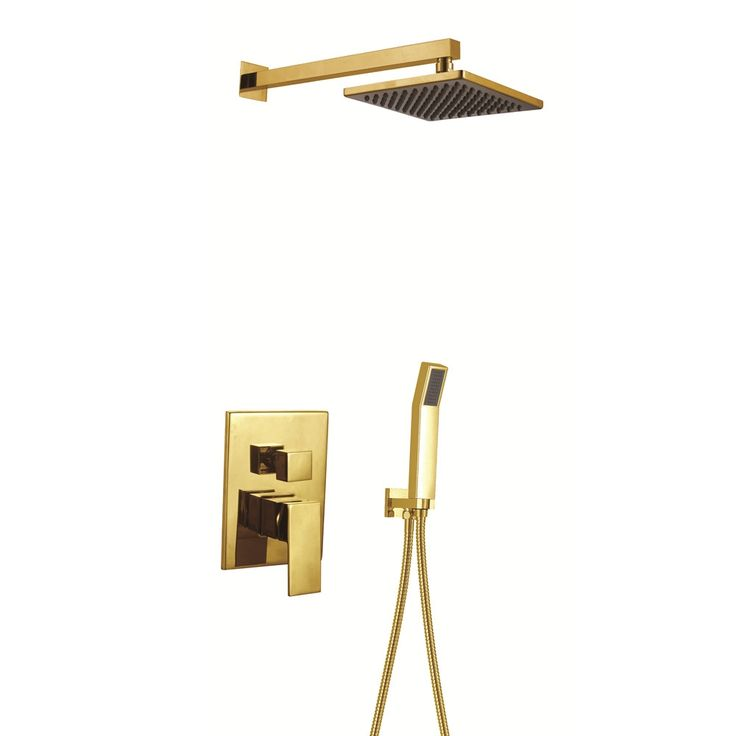 (268.46$)  Watch here  - 2017 Wholesale Promotion Premium Square Style Bathroom Shower Set Luxury Gold In-Wall Bath & Shower Mixer Taps