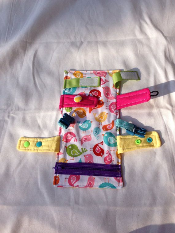 Busy blanket  a buckle snap zip Velcro and by TheLittlestLearners