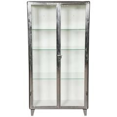 Vintage Industrial Midcentury Polished Medicine Cabinet