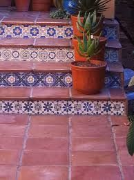 Image result for pavers mixed with mexican tile
