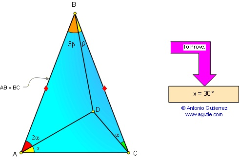 how to solve isosceles triangle in geometry