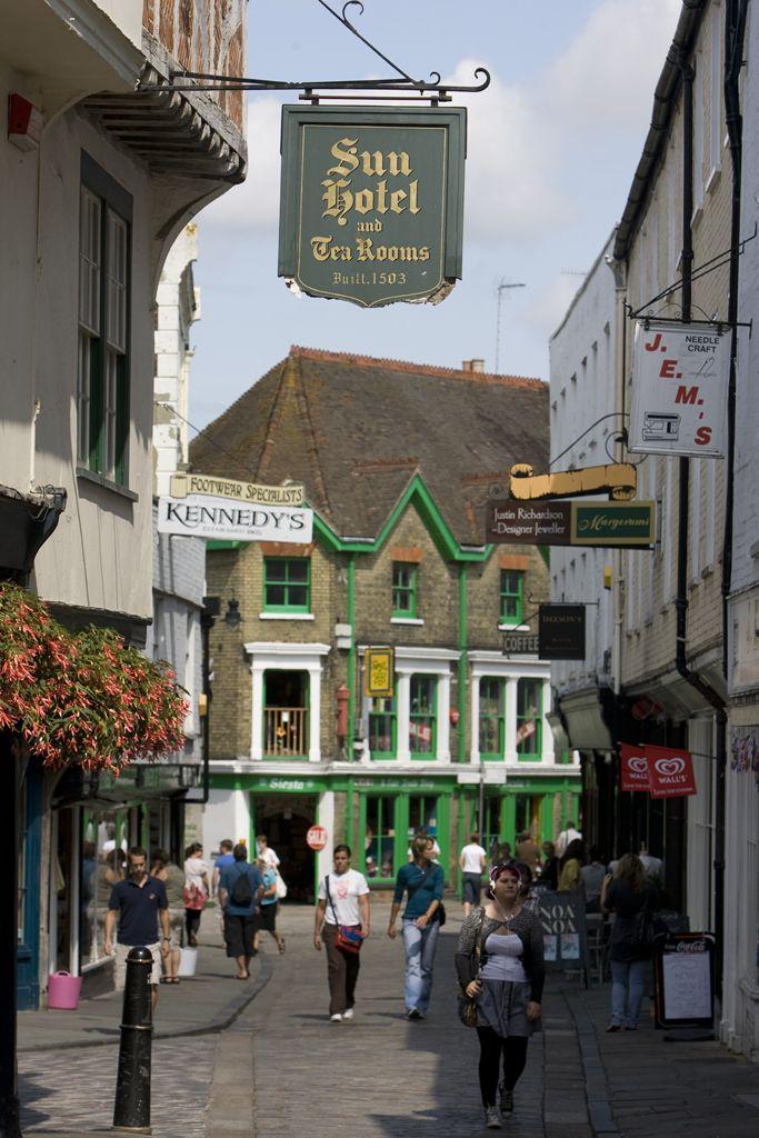 Canterbury city centre, Kent, England