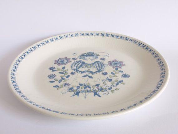 Figgjo Lotte Turi Danish Dinner Plates  Set of 2  by FunkyKoala