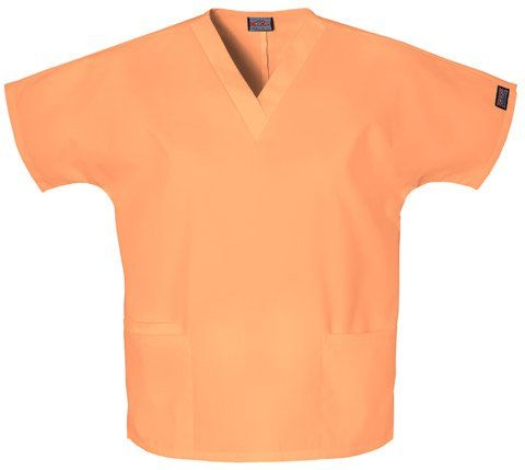 Cherokee Workwear Women's Solid V-neck Scrub Top (Orange Sorbet, 3XL). Size: XXX-Large. Variation: Size (XXX Large). Coordinating Cherokee Workwear pants available. 2 lower pockets. International shipping available. Great for group orders. Poly-cotton. Great for pediatrics. Lots of colors to choose from.