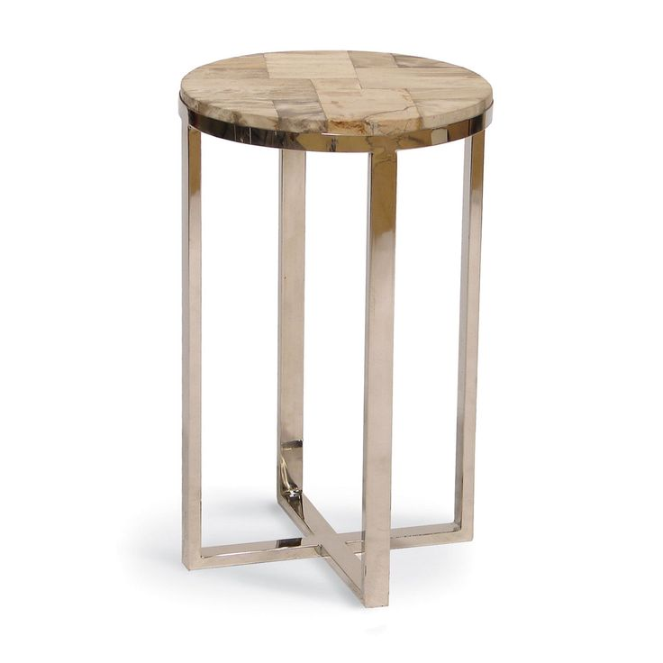 Small Drink Table Part - 20: Drink Table, Petrified Wood, Living Room Furniture, Side Tables, Drinks