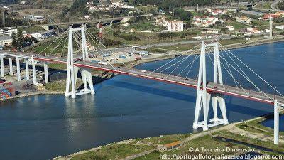 A Terceira Dimensão - Fotografia Aérea: Figueira da Foz - Ponte Edgar Cardoso