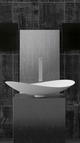 Countertop washbasin 'INFINITY' | Pert® | Starlight white. 10 Modern Washbasin Designs To Spruce Up Your Luxury Bathroom ➤To see more Luxury Bathroom ideas visit us at www.luxurybathrooms.eu #luxurybathrooms #homedecorideas #bathroomideas @BathroomsLuxury