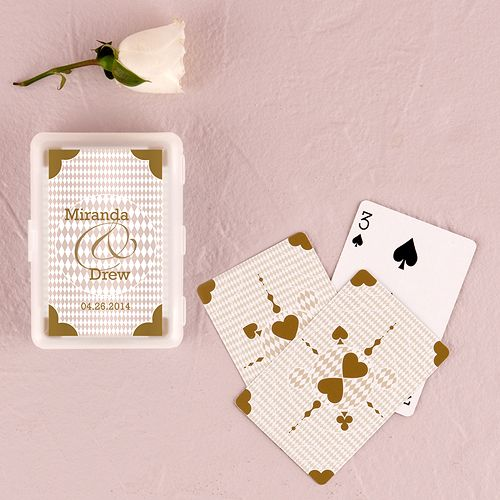 Classic Metallic Gold Playing Cards in Plastic Case - The Knot Shop