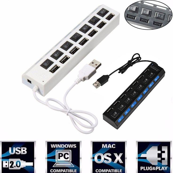 Multi 7 Ports High Speed USB 2.0 480Mbps USB HUB