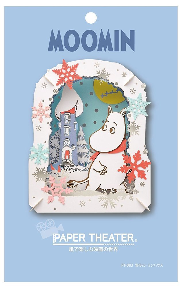 Ensky MOOMIN Moomintroll Paper Theater Snow House Craft Kit from Japan F/S #Ensky