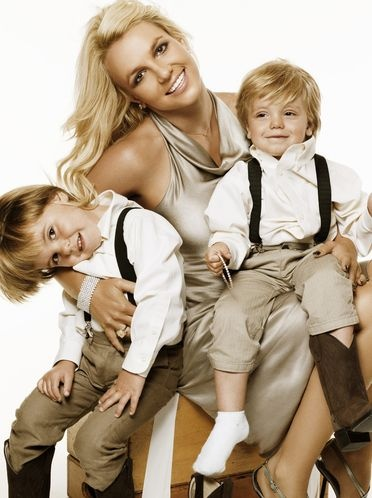 The incomparable Britney Spears and her two cute sons.