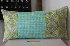 Funky,cushion covers,unique,modern,retro,green,yellow, designer 26x50cm Aprox