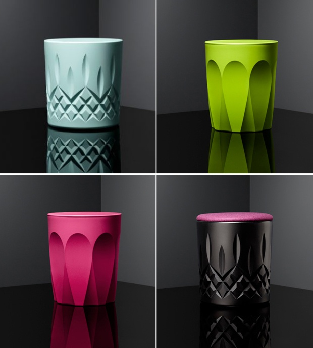 Keith Melbourne Glass Collection stools for Zenith