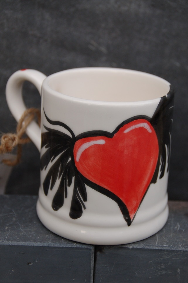 Ink hearts mug £15.00