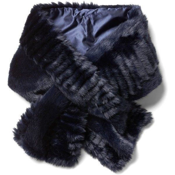 Faux Fur Pull-Through Scarf ( 78) ❤ liked on Polyvore featuring accessories 80dad5c18d9a9