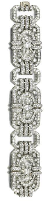 Diamond bracelet, circa 1930.  My Mother had one like this....Someone else took it..