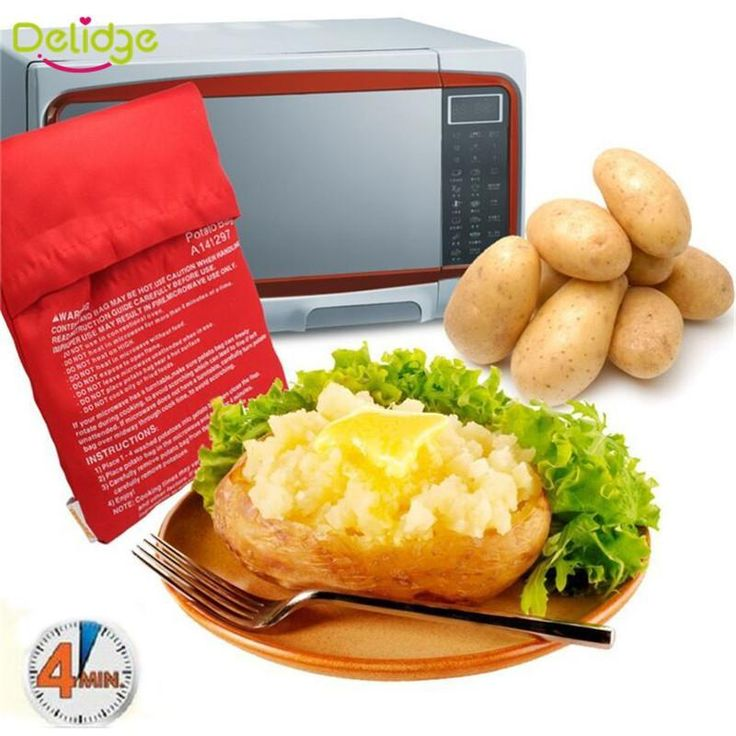 Red Microwave Potato Bag (Cook 8 potatoes at Once)