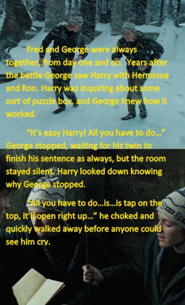 Stop it, George! :'(