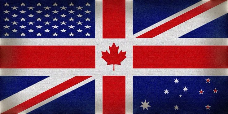 Canada, USA, Great Britain, Australia, and New Zealand combined flag. - Imgur