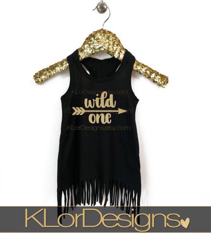 First birthday dress, Wild One birthday, fringe toddler dress, first birthday, girl 1st birthday outfit by KLorDesigns on Etsy https://www.etsy.com/listing/549818363/first-birthday-dress-wild-one-birthday
