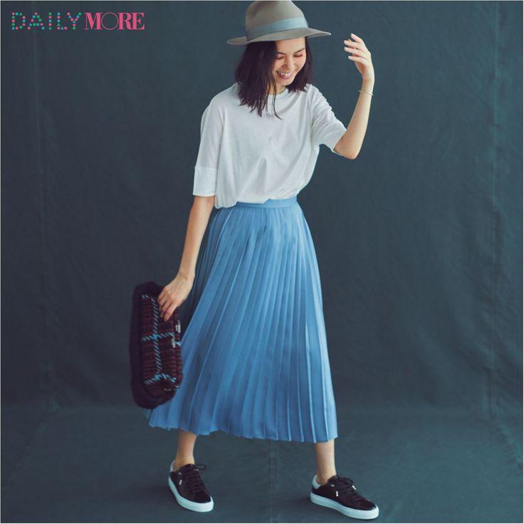 【今日のコーデ/比留川游】代休を取ってデートの金曜日は秋色プリーツスカートが味方♡ | ファッション(コーディネート・流行) | DAILY MORE