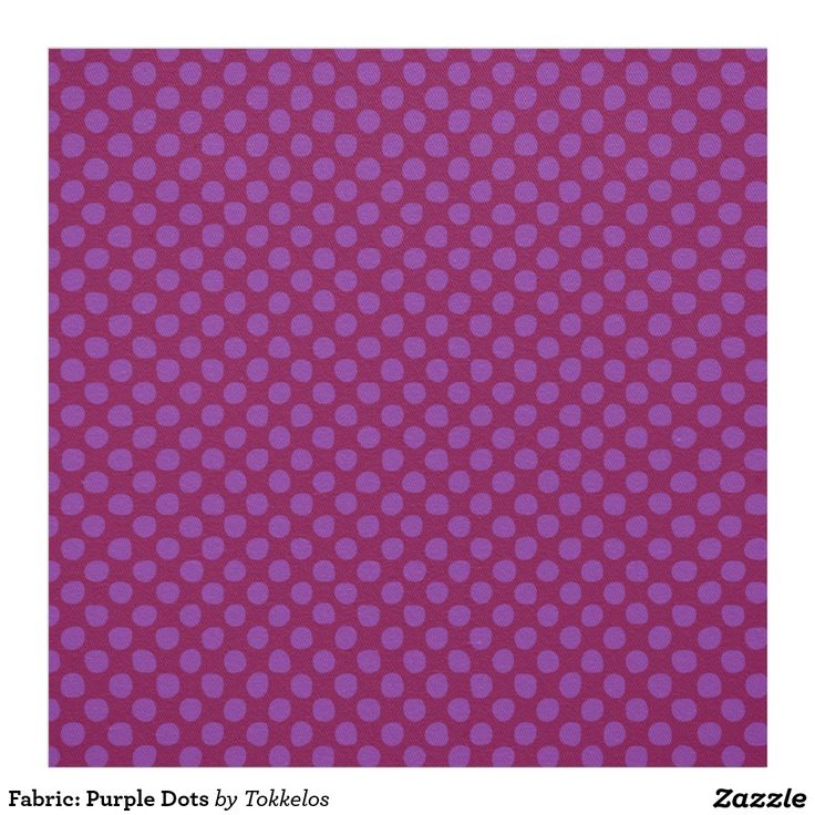 Fabric: Purple Dots