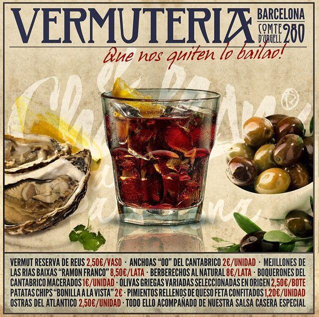 """Cartel para """"El Chaflán de Barcelona"""" donde promocionan su Vermut y aperitivos (inspirado de los antiguos carteles taurinos). ¡Hay que recuperar la hora del Vermut! http://www.g2disseny.com/"""