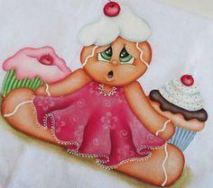 gingerbreadl para pintura em tecido - Google Search
