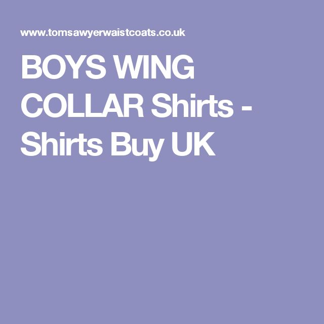 BOYS WING COLLAR Shirts  - Shirts Buy UK